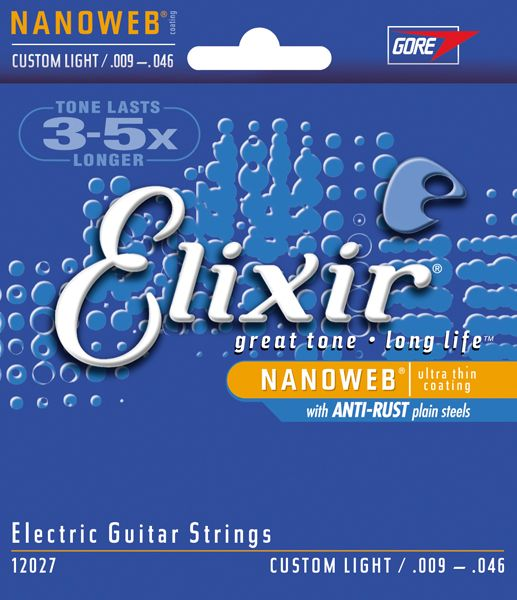 ELIXIR 12027  Nanoweb Custom Light ***TOPAANBIEDING*** .009/.046w Electrisch