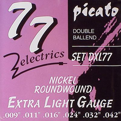 Picato DXL-77  Double Ball End .009/.042  Electrisch
