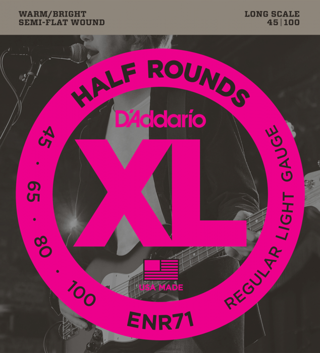 D'Addario ENR71 Semi-Flatwound