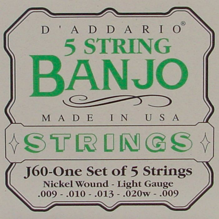 D'Addario J-60 Banjo snaren .009  5-string light