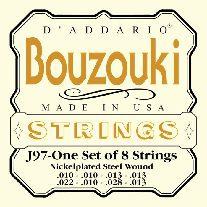 D'Addario J-97 Nickel RW Loop End  Bouzouki set