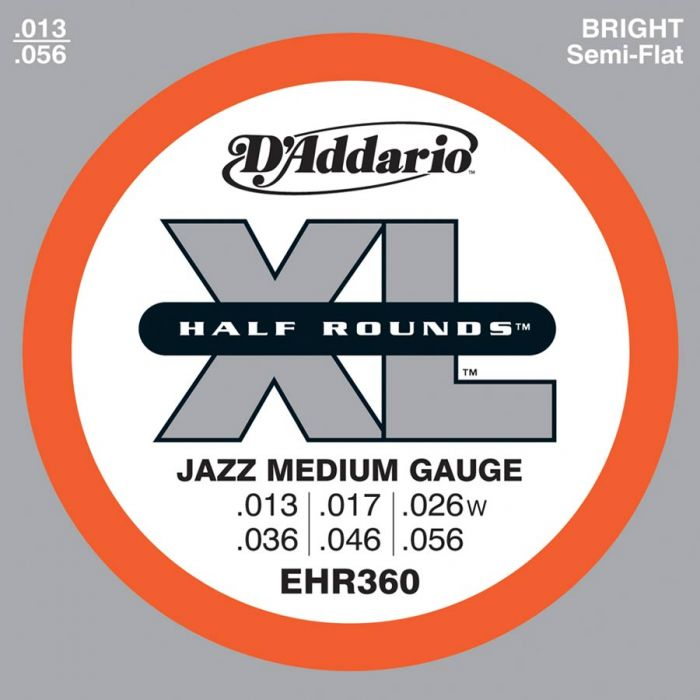 D'Addario EHR - 360  Halfrounds Stainless .013/.056