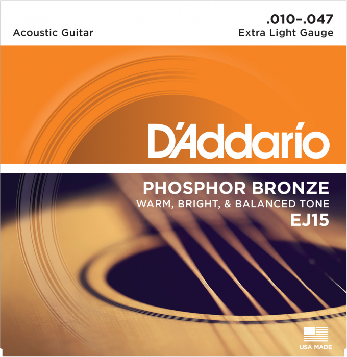 D'Addario EJ15 Phosphor Bronze Extra Light 010-047