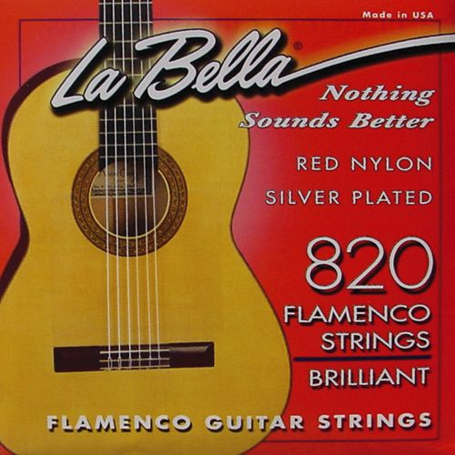 La Bella 820 Flamenco Red Nylon