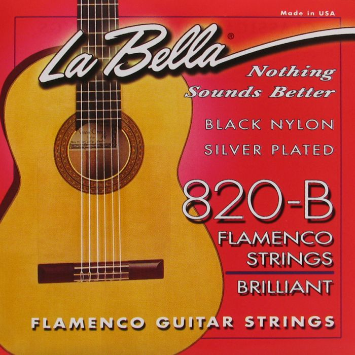 La Bella 820-B Flamenco Black Nylon