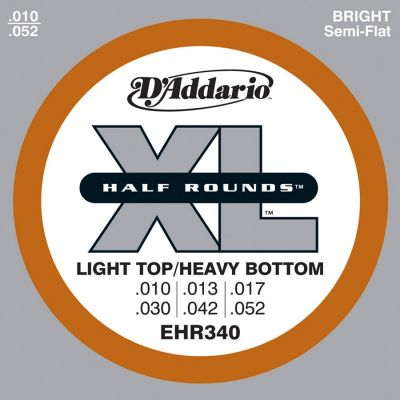 D'Addario EHR - 340  Halfrounds Stainless .010/.052