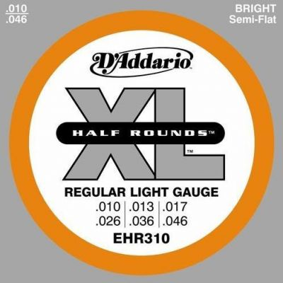 D'Addario EHR310 Half Round Regular Light 010-046