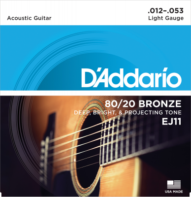 D'Addario EJ11 80/20 Bronze Light 012-053